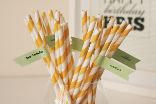 DIY Wedding Party Straw Flags