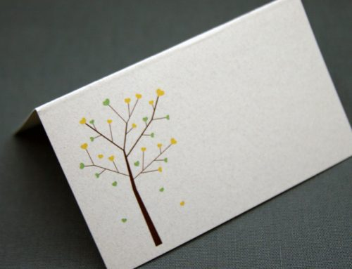 Growing Love Tree Recycled Place card