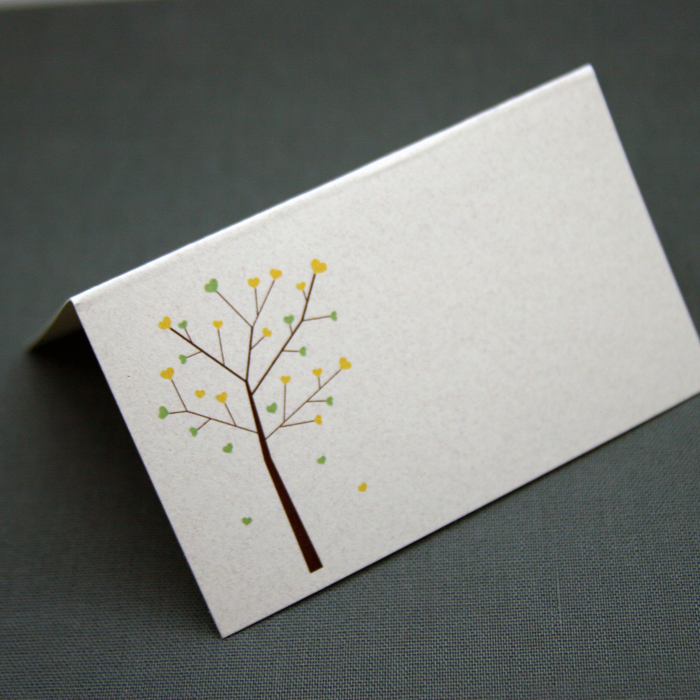 eco-friendly recycled place cards