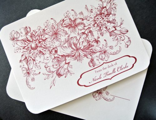 Sweet Florals Personalised Stationery
