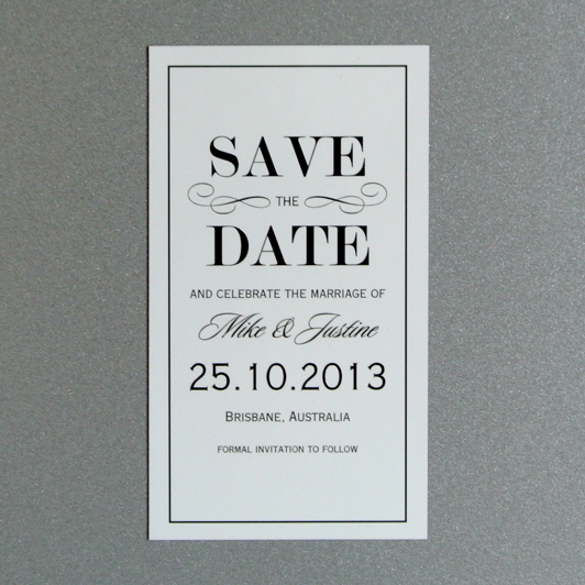 Vintage Style Save the Date Magnet