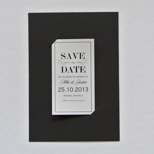 Vintage Style Save the Date Magnet and Holder