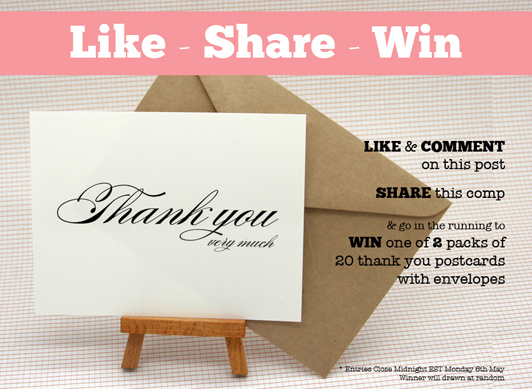 Win thank you cards