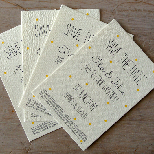 Seeded Paper Wedding Save the Date