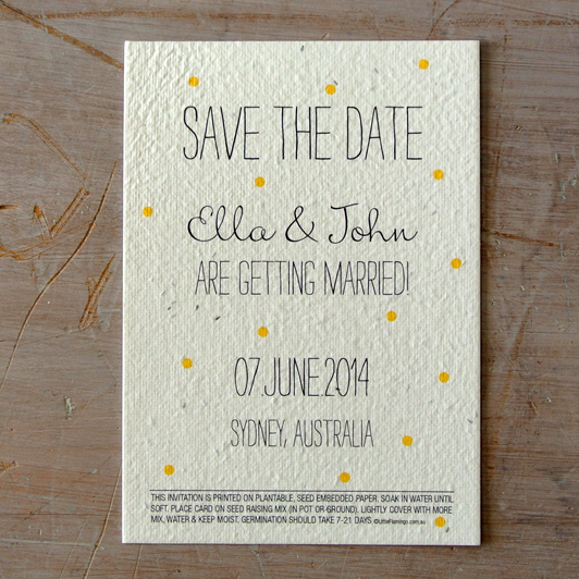 Confetti Save the Date Seeded Paper