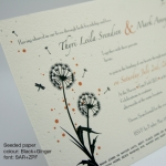 Dandelion Seeded Invitation_Sq