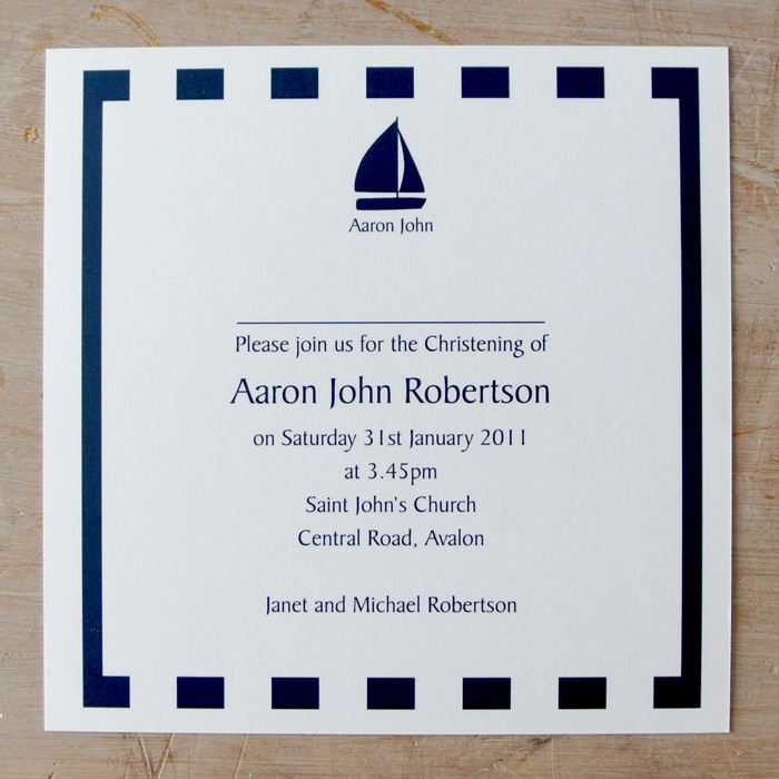 Nautical Party Invitations - Little Flamingo