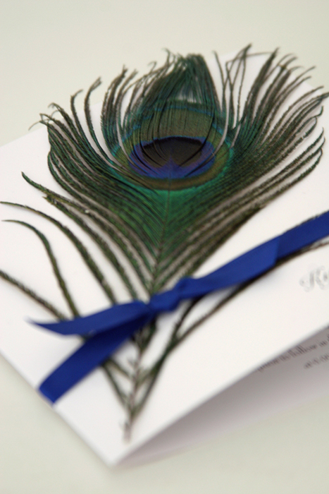 peacock feather wedding invites australia