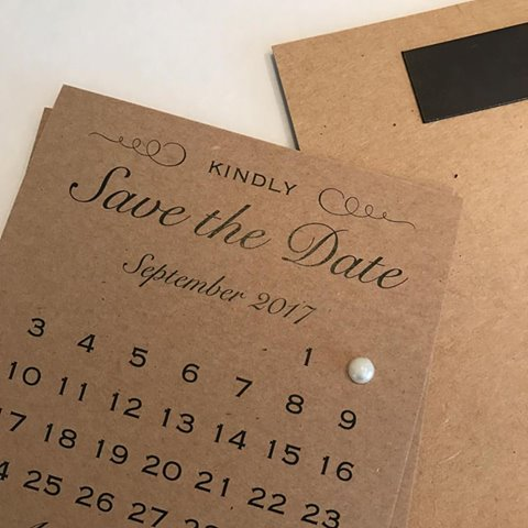 Simple save the date with pearl