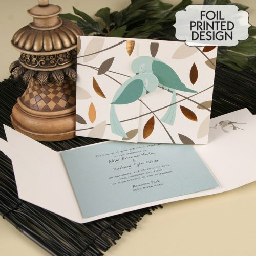 love bird wedding invitations australia