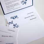 Blue and White Wedding Invitation Pocket_Blossom