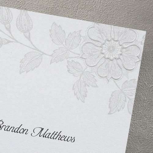 vintage flower wedding invites