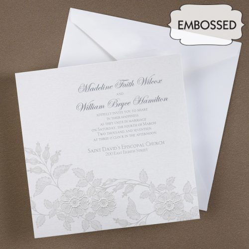 sophisticated garden wedding invites