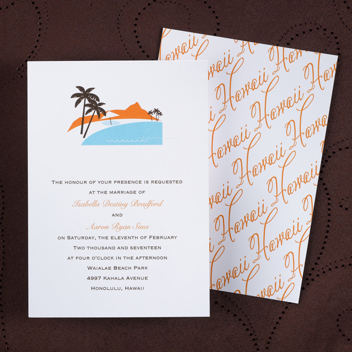 Hawaii Wedding Invitations could be nice ideas for your invitation template