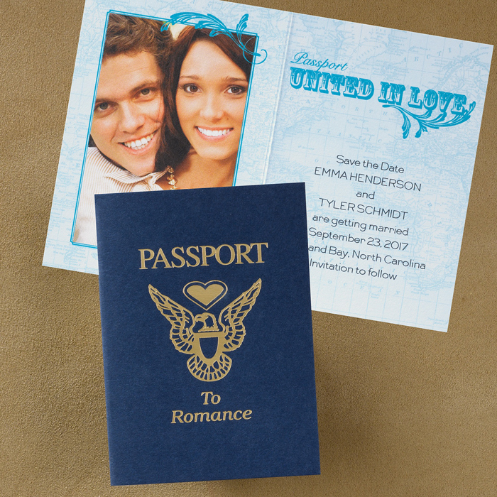 wedding stationery passport