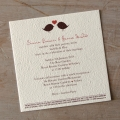 Seeded Paper Wedding Invitation