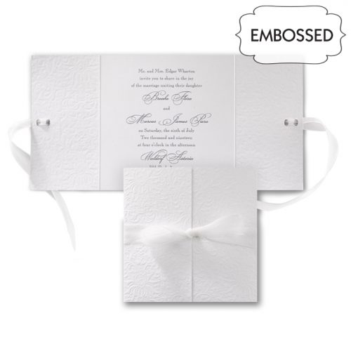 embossed wedding folder