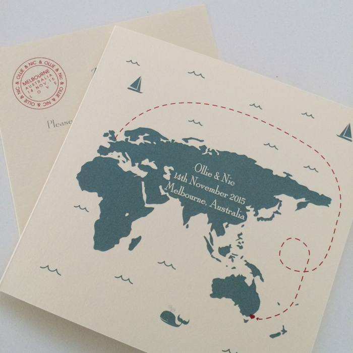 Wedding Invitations With Maps: Destination Wedding Invitations