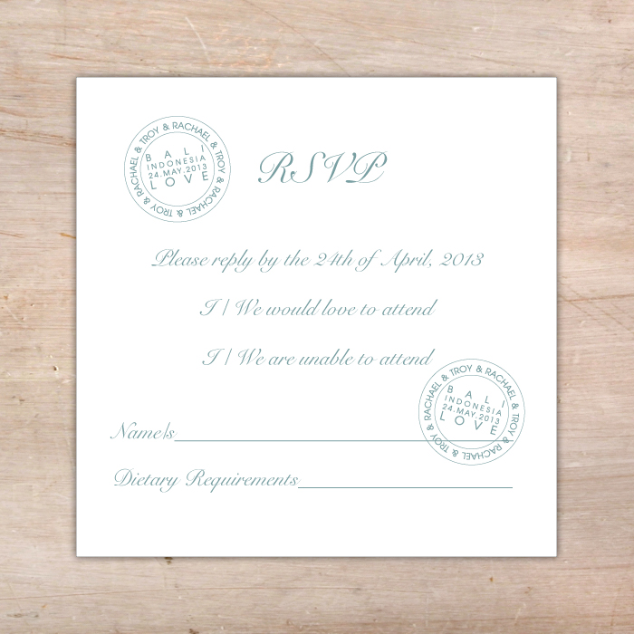 Destination Wedding Rsvp Postcard  Little Flamingo