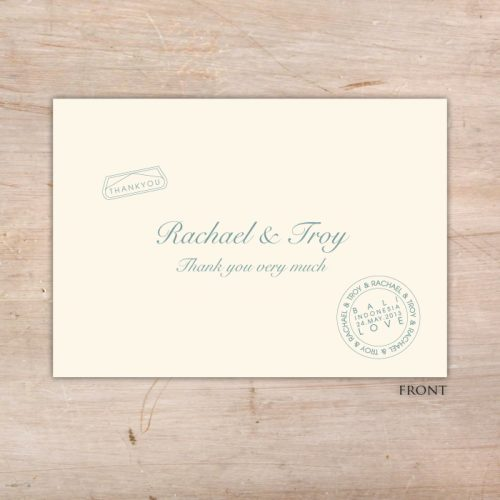 Destination Wedding - Invitation Sample - Little Flamingo