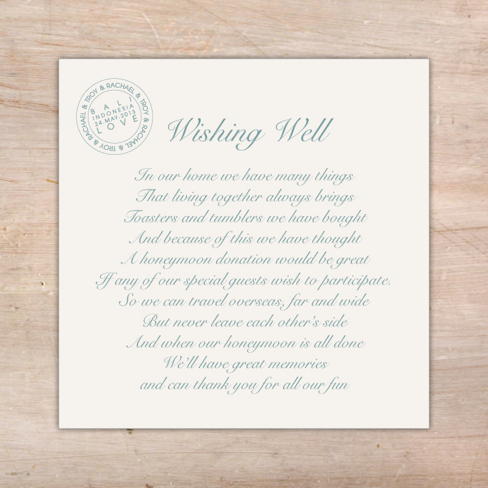 Wishing well and gift registry wording gift ftempo for Unique wedding registry sites