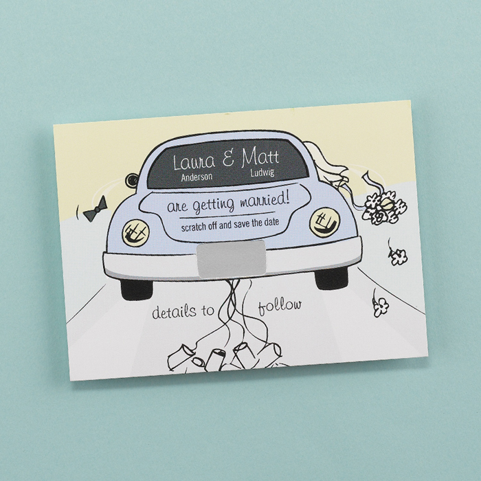 Getting Hitched Save the Date Magnet
