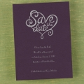 funky save the date card