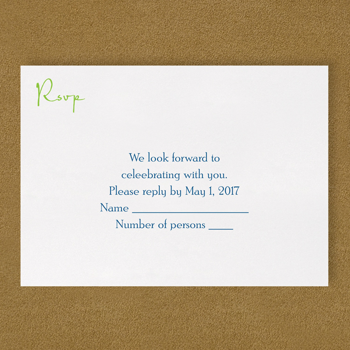 modern monogram rsvp insert card s little flamingo