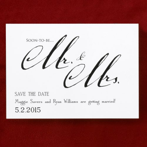 Save the date card in Australia