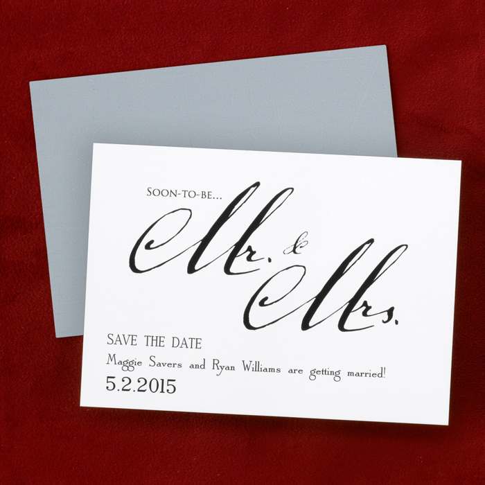 mr mrs save the date card or magnets little flamingo