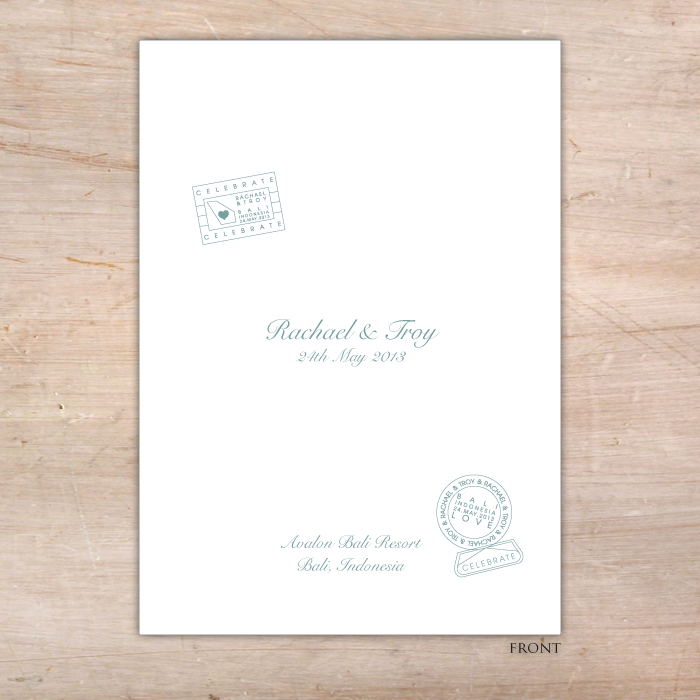 Destination Wedding Order Of Service Cover  Little Flamingo