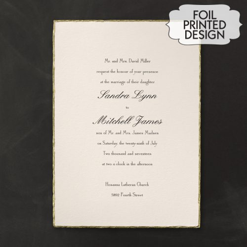 gold deckle edge invitations australia