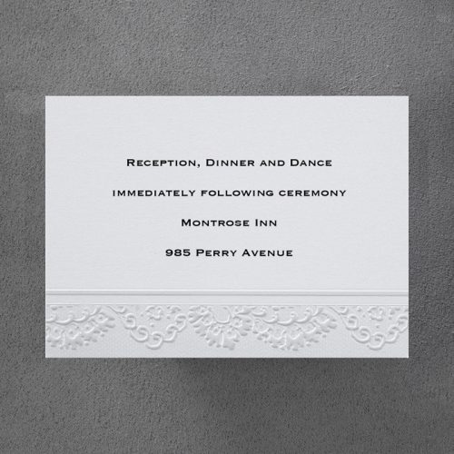 Lace Embossed Border Wedding Invitations