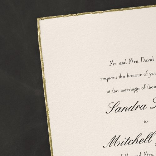 deckle edge invitations wedding