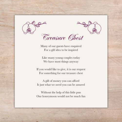 orchid theme wedding invitations