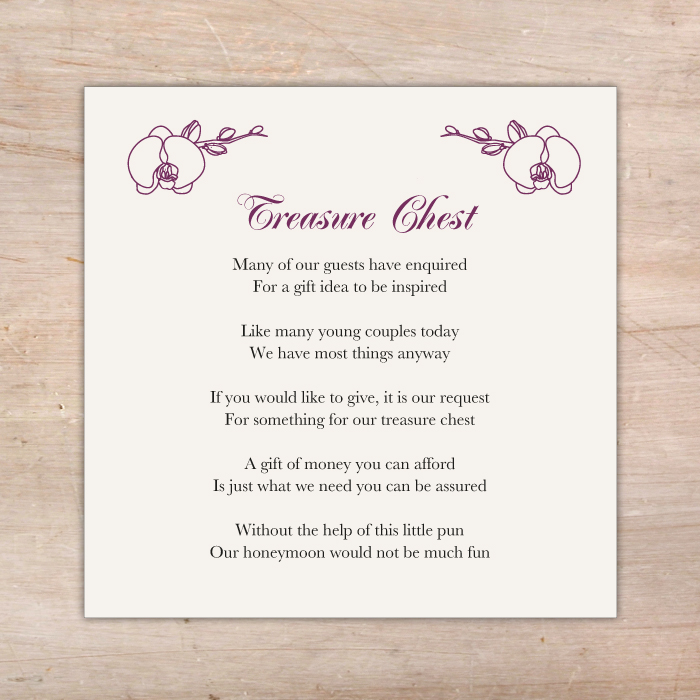 Orchid Wedding Invitations Additional Cards Little Flamingo