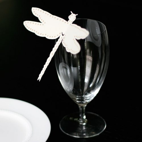 wine glass place cards wedding