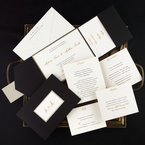 elegant pocket wedding invitations