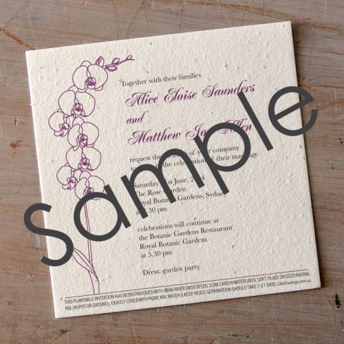 garden wedding invitation sample