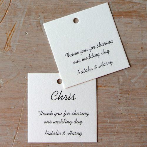 simple wedding tags