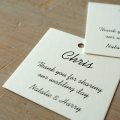guest wedding tags