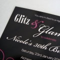 Glitz and Glamour party invitations