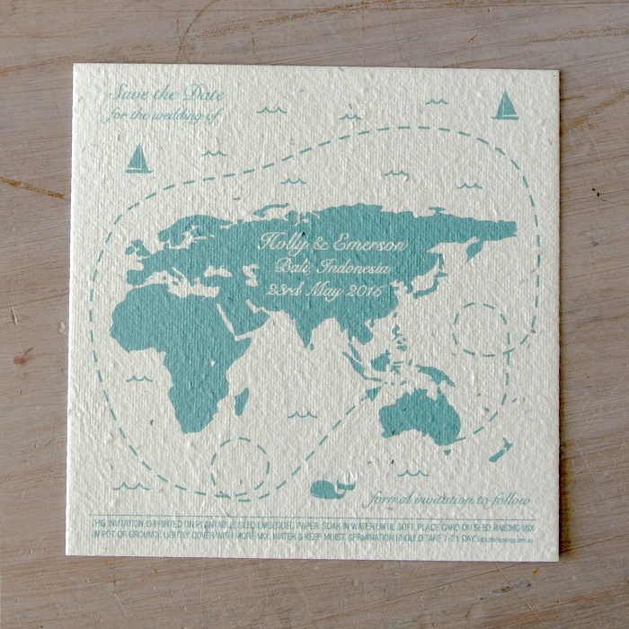 Save the date world map