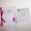 double happiness wedding invitations