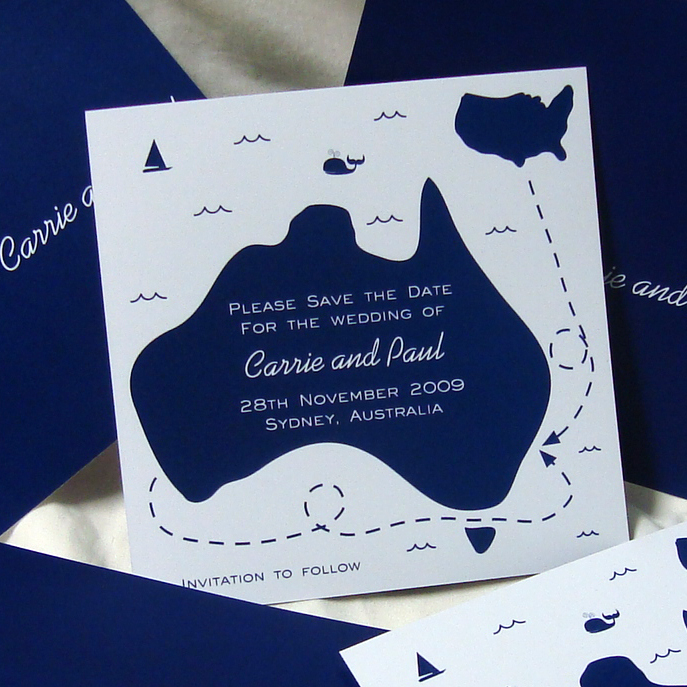 international wedding save the dates