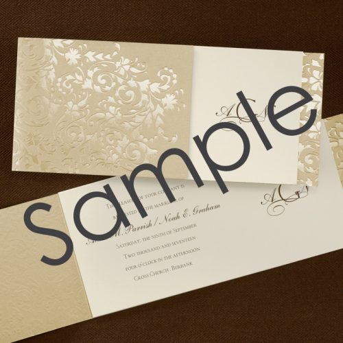 gold wedding invitation ideas