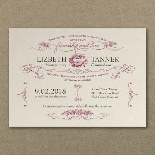 Vineyard Wedding Invitations