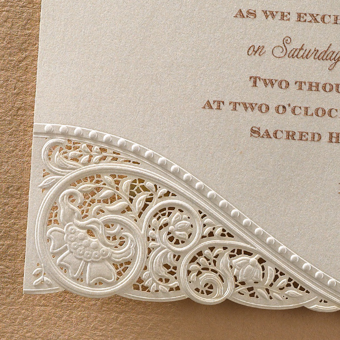 Vintage Wedding Invitations: Laser Cut Vintage Lace Wedding Invitations
