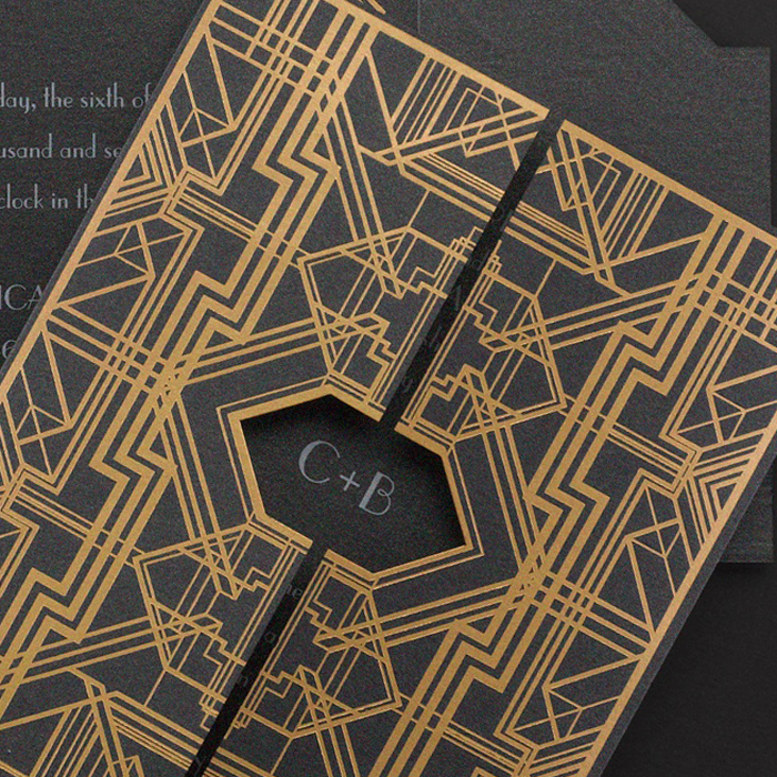 Geometric wedding invitations sydney