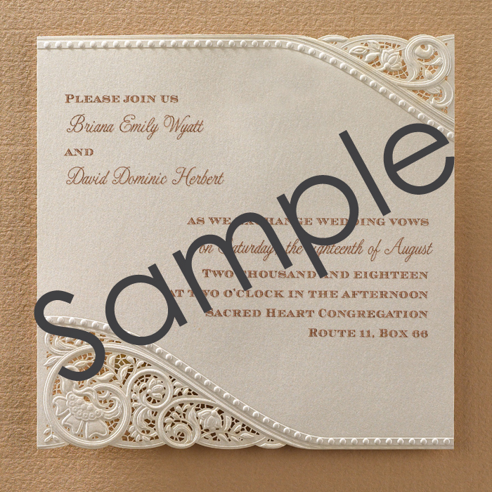 Laser cut vintage lace wedding invitations sample little flamingo online wedding stationery vintage lace wedding invitations filmwisefo